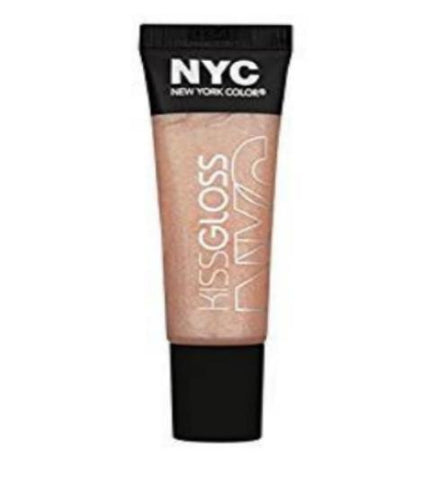 NYC New York Color Kiss Gloss 529 Sugar Hill Shimmer Peach Color, Lip Gloss, NYC, makeupdealsdirect-com, [variant_title], [option1]