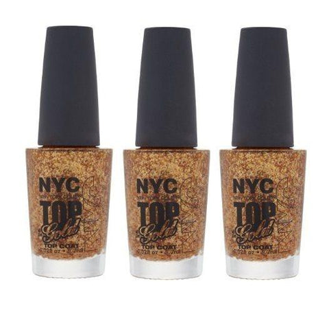 LOT OF 3 - N.Y.C. New York Color Minute Nail Enamel, Top of the gold, Manicure/Pedicure Tools & Kits, NYC, makeupdealsdirect-com, [variant_title], [option1]