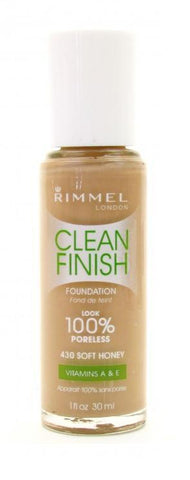 "Rimmel Clean Finish Foundation 430 Soft Honey, ""Choose Your Pack!"", Foundation, Contains Minerals, makeupdealsdirect-com, PACK 1, PACK 1"