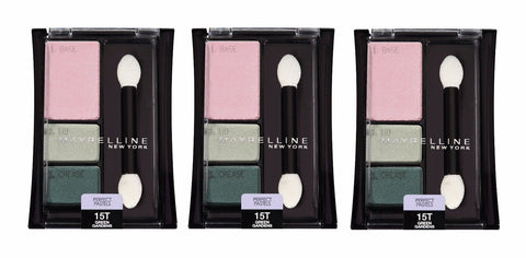 Lot Of 3 Maybelline Perfect Pastels Eyeshadow Trio #15t Green Gardens, Eye Shadow, Maybelline  - MakeUpDealsDirect.com