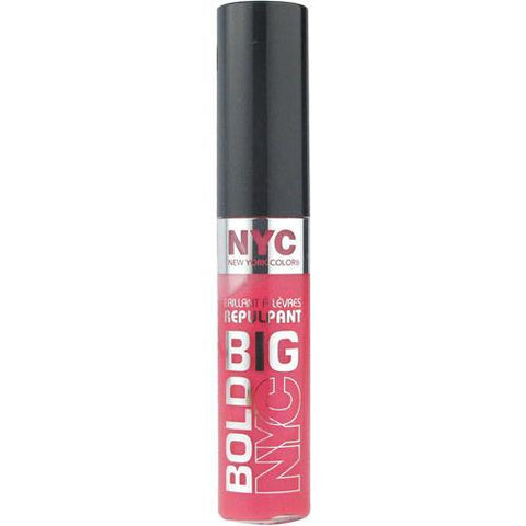 NYC  Full On Fuchsia Big Bold Gloss -, Lip Gloss, NYC, makeupdealsdirect-com, [variant_title], [option1]