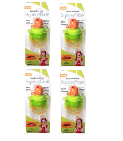 8 Pack Booginhead Squeezems Travel Easy Fill Safe Bpa Free Reusable Food Pouches, [product_type], Booginhead, makeupdealsdirect-com, [variant_title], [option1]