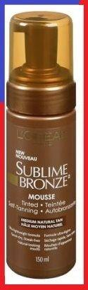 Sublime Bronze Tinted Self Tanning Mousse Medium Natural Tan Choose Your Pack, Sunless Tanning Products, L'Oreal Paris, makeupdealsdirect-com, 1 Pack, 1 Pack
