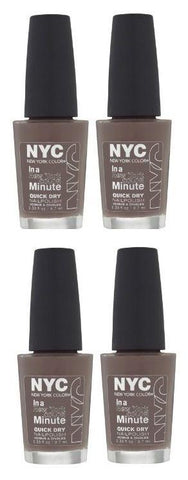 Lot of 4 - Nyc in a New York Color Minute Quick Dry Nail Polish, Park Ave, Nail Polish, N.Y.C., makeupdealsdirect-com, [variant_title], [option1]