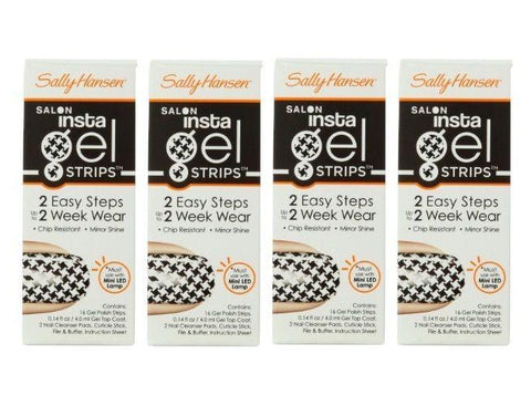 LOT OF 4 Sally Hansen INSTA GEL Strips 16-Strips-Chip Resistant #440 BONUS CHECK, Manicure/Pedicure Tools & Kits, Sally Hansen, makeupdealsdirect-com, [variant_title], [option1]