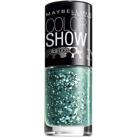 Maybelline New York Color Show Nail Polish Polka Dots 55 Drops Of Jade, Nail Polish, Maybelline, makeupdealsdirect-com, [variant_title], [option1]