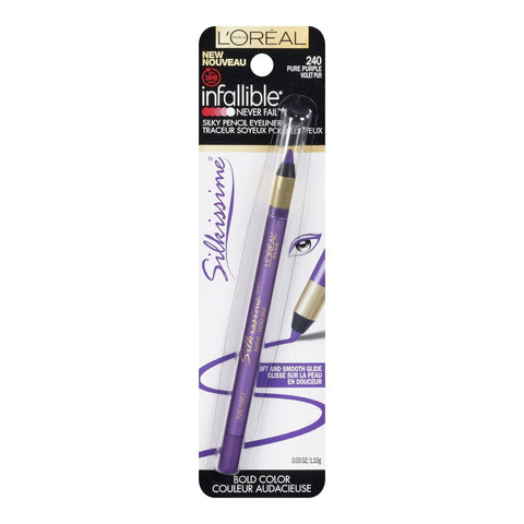 Loreal Infallible Never Fail Silky Pencil Eyeliner, Choose Your  Color, Eyeliner, L'Oréal, makeupdealsdirect-com, 240 pure purple, 240 pure purple