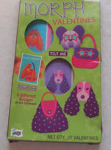 Valentines Day Cards Lenticular 3D Dino Dogs Pony CHOOSE DESIGN, Valentine's Day, reddonut, makeupdealsdirect-com, Pets to Purses (27 Valentines), Pets to Purses (27 Valentines)