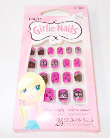 Fing'rs Girlie Stick On Nails 24 Nails HALLOWEEN BATS, Nail Art Accessories, Fing'rs, makeupdealsdirect-com, [variant_title], [option1]