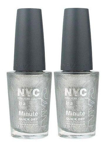 Lot Of 2 - Nyc In A New York Color Minute Nail Polish #292 Tribeca Silver, Nail Polish, NYC, makeupdealsdirect-com, [variant_title], [option1]