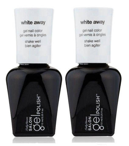 Lot Of 2 - Sally Hansen Salon Gel Polish Gel Nail Color #110 White Away, Gel Nails, Sally Hansen, makeupdealsdirect-com, [variant_title], [option1]