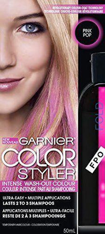 Garnier Color Styler Intense Wash-Out Color CHOOSE YOUR COLOR, Hair Color, Garnier, makeupdealsdirect-com, Pink Pop, Pink Pop