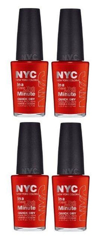 Lot of 4 -nyc in a New York Color Minute Quick Dry Nail Polish 221 Spring Street, Nail Polish, NYC, makeupdealsdirect-com, [variant_title], [option1]