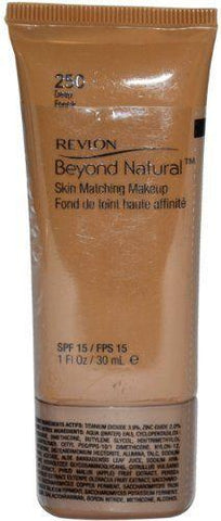 Revlon Beyond Natural Skin Matching MakeUp Foundation SPF 15 #250 Deep, Foundation, Revlon, makeupdealsdirect-com, [variant_title], [option1]