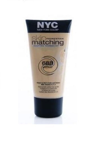 Nyc New York Color Skin Matching Foundation With Adapting Technology 688 Medium, Foundation, NYC, makeupdealsdirect-com, [variant_title], [option1]
