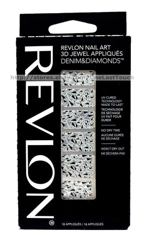 Revlon Nail Art 3d Jewel Appliques Nail Stickers, Choose Your Type, Nail Art Accessories, Stickers, makeupdealsdirect-com, 06 Denim & Diamonds, 06 Denim & Diamonds