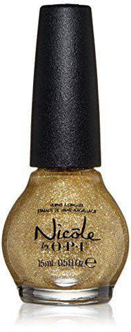 Nicole By Opi Carried Away, Nail Polish, Carrie Underwood, Gold Glitter, Nail Polish, OPI, makeupdealsdirect-com, [variant_title], [option1]