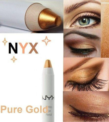 Nyx Jumbo Eye Pencil 0.18oz *choose Your Color*, Eyeliner, NYX, makeupdealsdirect-com, Pure Gold 621A hs2435, Pure Gold 621A hs2435