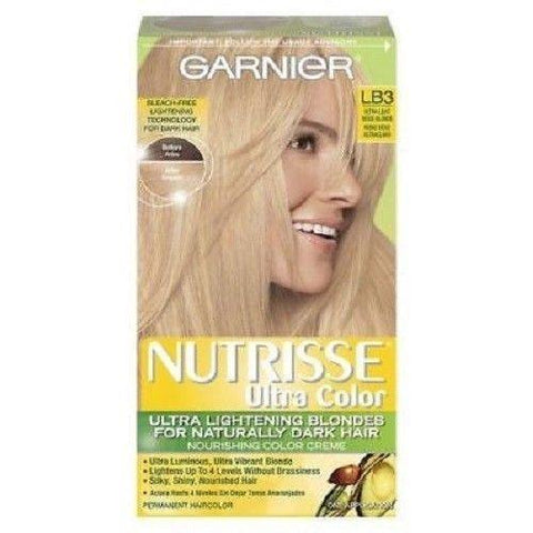 Garnier Nutrisse Ultra Color Nourishing Color Creme, Choose Your Color, Hair Color, Garnier, makeupdealsdirect-com, LB3 Ultra Light Beige Blonde, LB3 Ultra Light Beige Blonde