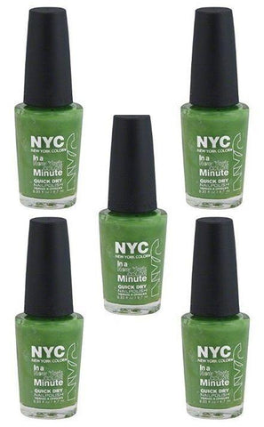 Lot Of 5 - Nyc New York In A Minute Quick Dry Nail Polish High Line Green #298, Nail Polish, NYC, makeupdealsdirect-com, [variant_title], [option1]