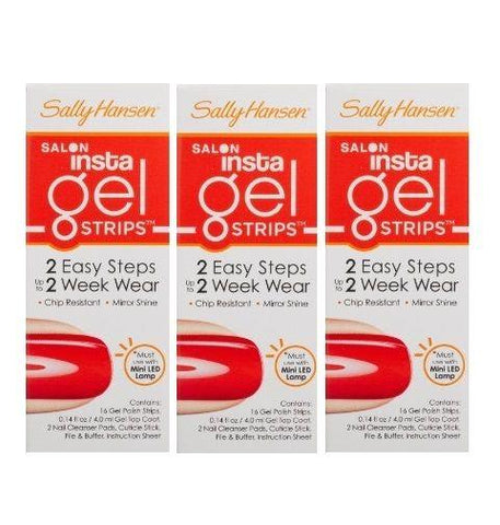 LOT OF 3 -Sally Hansen INSTA GEL Strips, 16-Strips Chip Resistant 250 GET JUICED, Manicure/Pedicure Tools & Kits, Sally Hansen, makeupdealsdirect-com, [variant_title], [option1]