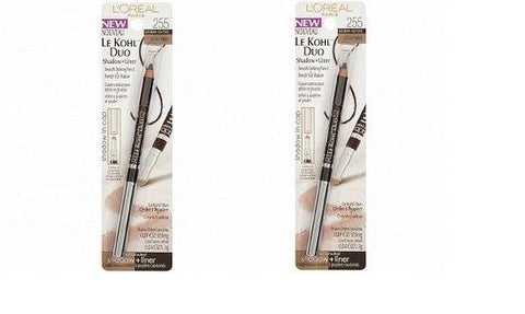 Lot Of 2 Loreal Le Kohl Duo Eye Shadow + Liner # 255 Black Brown, Hazelnut, Eyeliner, L'Oreal  - MakeUpDealsDirect.com