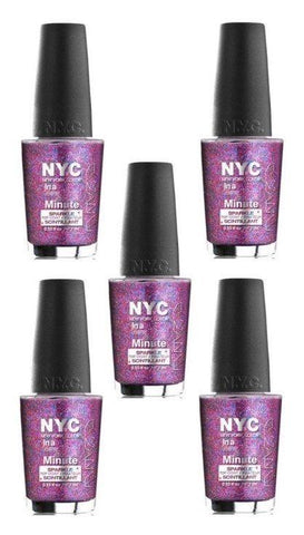 Lot Of 5 - New York Color In A New York Color Minute Nail Polish Big City Dazzle, Nail Polish, NYC, makeupdealsdirect-com, [variant_title], [option1]
