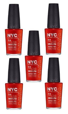 Lot Of 5 -nyc In A New York Color Minute Quick Dry Nail Polish 221 Spring Street, Nail Polish, NYC, makeupdealsdirect-com, [variant_title], [option1]