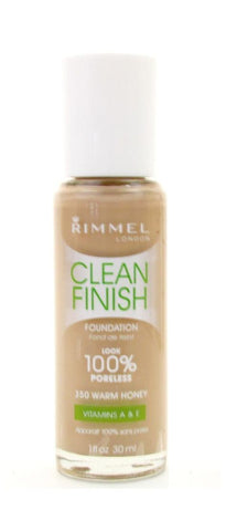 "Rimmel Clean Finish Foundation 350 Warm Honey, ""Choose Your Pack!"", Foundation, Rimmel, makeupdealsdirect-com, PACK 1, PACK 1"