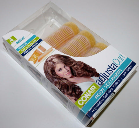 4 Conair AdjustaCurl Root Volumizer Adjustable Self-Grip Rollers For Ionic Shine, Rollers & Curlers, Conair  - MakeUpDealsDirect.com