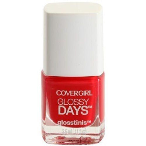 Covergirl Outlast Stay Brilliant Glosstinis, 650 Raving Hot Choose Your Pack, Nail Polish, Covergirl, makeupdealsdirect-com, Pack of 1, Pack of 1