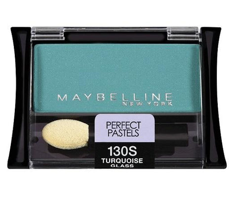 Maybelline Expert Wear Eyeshadow, 130S Turquoise Glass CHOOSE YOUR PACK, Eye Shadow, Maybelline, makeupdealsdirect-com, Pack of 1, Pack of 1