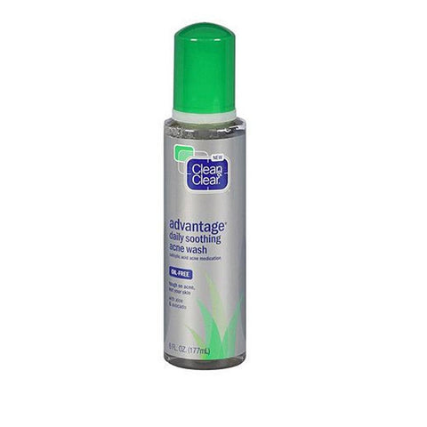 Clean & Clear Advantage Daily Soothing Acne Wash Salicylic Acid, Choose Ur Pack, Acne & Blemish Treatments, Acne  - MakeUpDealsDirect.com