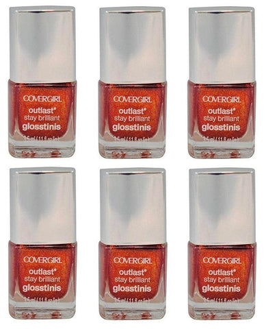 Covergirl Outlast Stay Brilliant Glosstini Polish, 610 Rogue Red Choose Pack, Nail Polish, Covergirl, makeupdealsdirect-com, Pack of 6, Pack of 6