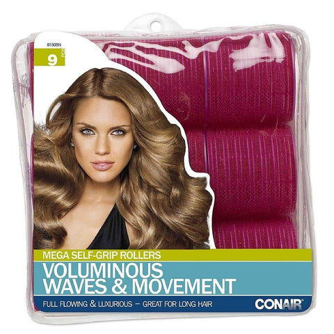 Conair Hair Products, Combs, Brushes, Clips, YOU CHOOSE New, Brushes & Combs, Conair, makeupdealsdirect-com, 9PC Mega Self-Grip Rollers, 61505N, 9PC Mega Self-Grip Rollers, 61505N