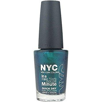 NYC In A New York Color Minute Quick Dry Nail Polish CHOOSE UR COLOR, Nail Polish, Nyc, makeupdealsdirect-com, 203 Precious Peacock, 203 Precious Peacock