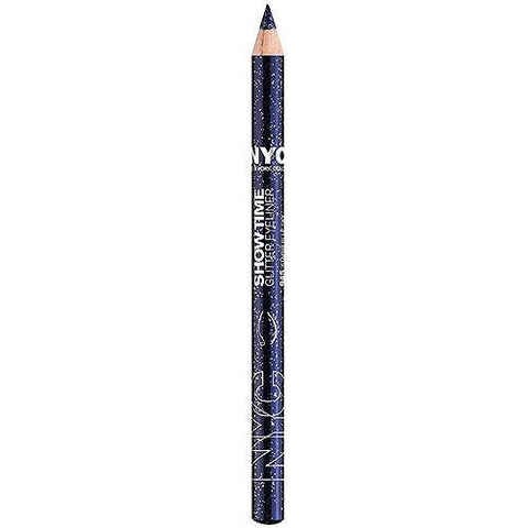 NYC Show Time Glitter Pencil, 945 Starry Blue Sky CHOOSE YOUR PACK, Eyeliner, Nyc, makeupdealsdirect-com, Pack of 1, Pack of 1