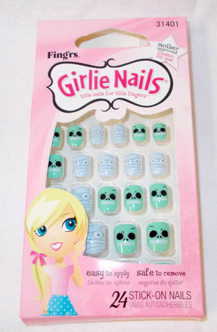 Fing'rs Girlie Nails Stick On Nails YOU CHOOSE, Press-On Nails, reddonut, makeupdealsdirect-com, Frankenstein + Mummy 31401, Frankenstein + Mummy 31401