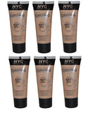 NYC Skin Matching Foundation, 687 Light To Medium CHOOSE YOUR PACK, Foundation, Nyc, makeupdealsdirect-com, Pack of 6, Pack of 6