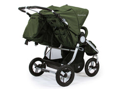 Bumbleride Indie Twin Double Stroller Camp Green Rear View Canada