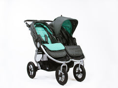 Bumbleride Reversible Seat Liner Dawn Grey Mint On Double Stroller Global Canada