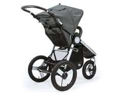 Bumbleride Speed Jogging Stroller Dawn Grey Mint Rear View Canada