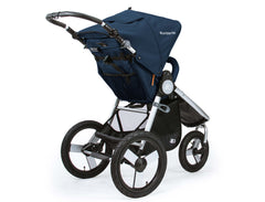 Bumbleride Speed Jogging Stroller Maritime Blue Rear View Canada
