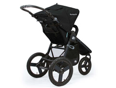 Bumbleride Indie Twin Double Stroller Matte Black Rear View Canada