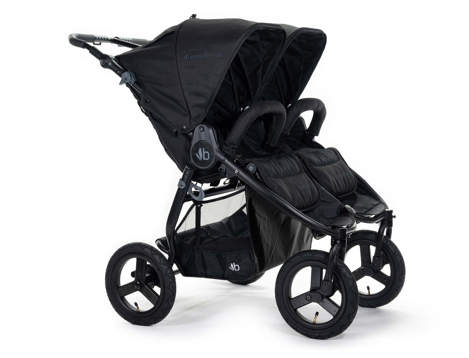2020 Bumbleride Indie Twin Double Stroller in Matte Black - Front