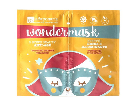 Masque anti-âge illuminant en 2 étapes - Wondermask, La Saponaria