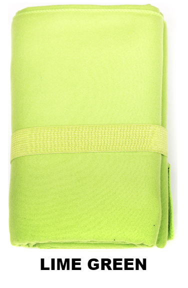 Lime Green Talii Bath Shower Compact Dry Super Absorbent Anti Bacterial Odorless Sheet MicroFibre Towel