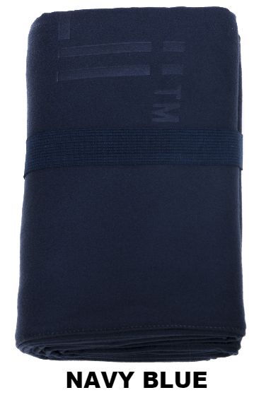 Navy Blue Talii Bath Shower Compact Dry Super Absorbent Anti Bacterial Odorless Sheet MicroFibre Towel