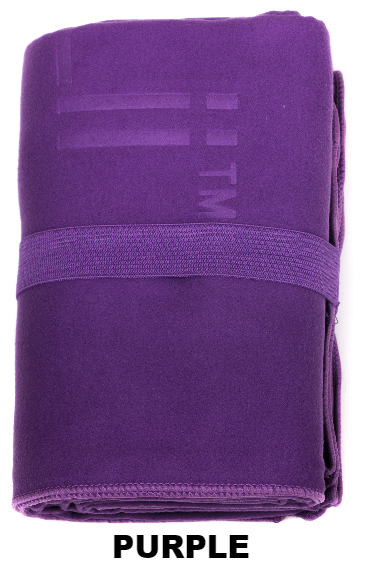 Purple Talii Bath Shower Compact Dry Super Absorbent Anti Bacterial Odorless Sheet MicroFibre Towel