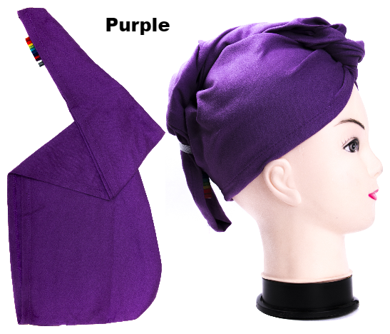 Purple Talii Turbii  Hair Fast Dry Absorbent Head Towel